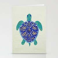sea Stationery Cards featuring Sea Turtle by Cat Coquillette