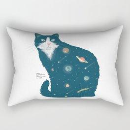 Cosmic Cat illustration Rectangular Pillow