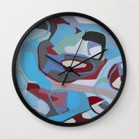 coke Wall Clocks featuring Cherry Coke by MadisonBlochArt