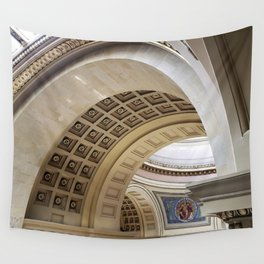 Wisconsin Capitol Building Arches And Angles Wall Tapestry