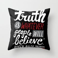 Fox News and Truth Throw Pillow