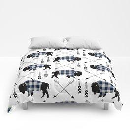 Blue Buffalo Plaid Comforters