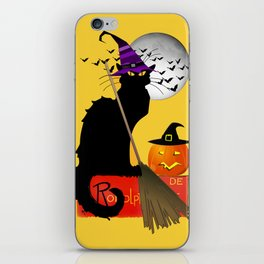 Le Chat Noir - Halloween Witch iPhone Skin