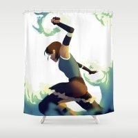 korra Shower Curtains featuring Avatar Korra II by daniel