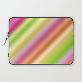 Tutti Fruity Diagonal Striped Pattern Laptop Sleeve