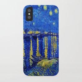 Van Gogh Starry Night Over the Rhone iPhone Case