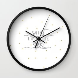 shine like the stars Wall Clock