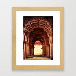 Arch Of Lotus Mahal At Hampi, Karnataka, India Framed Art Print