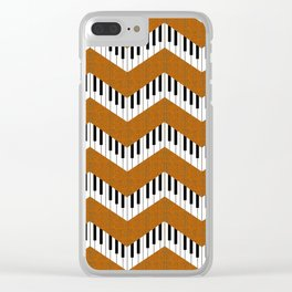 Chevron in the key of orange Clear iPhone Case