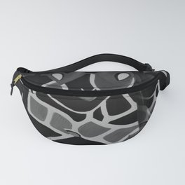Girl from the Past by Lu, black-and-white Fanny Pack