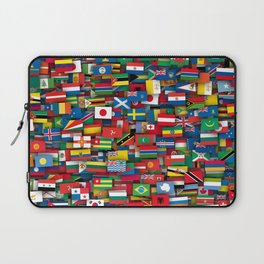 Flags of all countries of the world Laptop Sleeve