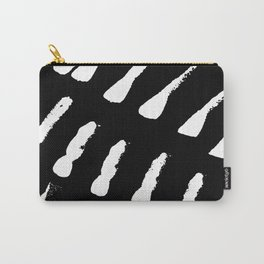 Minimal [2]: a simple, black and white pattern by Alyssa Hamilton Art Carry-All Pouch