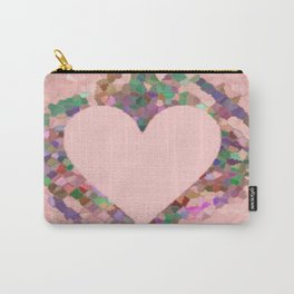 Old Fashioned Pink Heart Carry-All Pouch