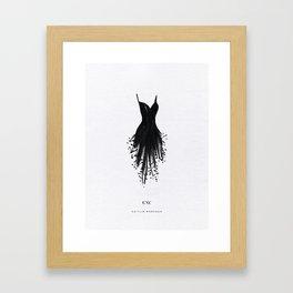Little Black Fringe Dress Framed Art Print