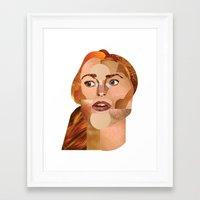 lindsay lohan Framed Art Prints featuring Lindsay Lohan  by Rebecca Singer Illustration