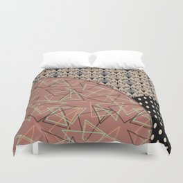 Combo brown patchwork Duvet Cover