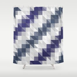 Funky Triangles Shower Curtain
