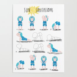 Yoga with a Unicorn Poster