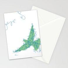 Bird Fly No. 2 (Blue/Green) Stationery Cards