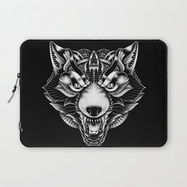 Angry Wolf Ornate Laptop Sleeve