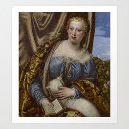 Paolo Veronese - Portrait of a Lady as Saint Agnes Art Print