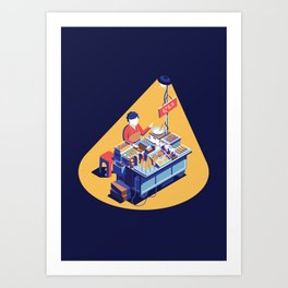 Korean Street Food Art Print