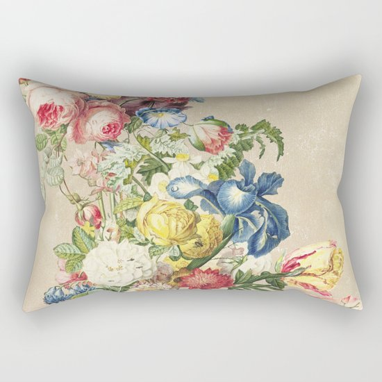 Floral tribute to Louis McNeice (Light) Rectangular Pillow