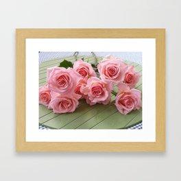 TAKE TIME TO SMELL THE ROSES Framed Art Print