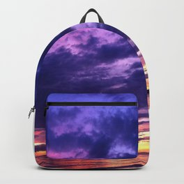 Sunset At Bali - Colorful Sky Touches The Sea Backpack