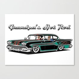 Grandpa's Hot Rod Canvas Print