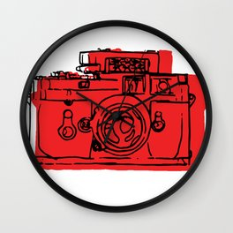 Click Click Red Wall Clock