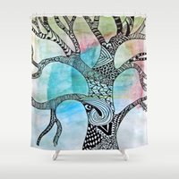 twilight Shower Curtains featuring Twilight by neena