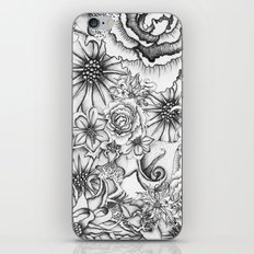 B&W Flowers  iPhone & iPod Skin