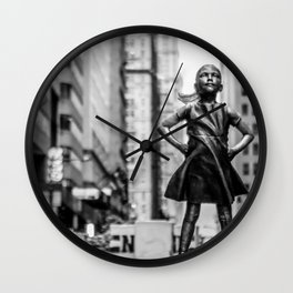 Fearless Girl New York City Wall Clock