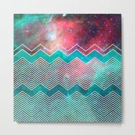 Chevron Galaxy Metal Print