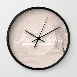 Great is Your Faithfulness - Lamentations 3:23 Wall Clock