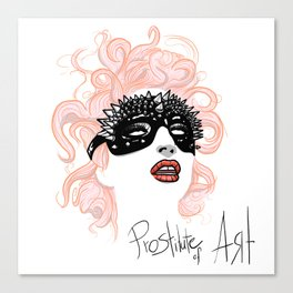 Prostitute of Art Canvas Print