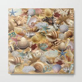 Sea Shell Mania Metal Print