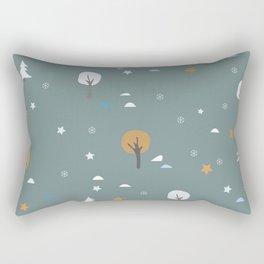 Cute Seamless Pattern With Autumn Trees Rectangular Pillow