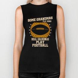 Football Grandma Real Grandmas Play Football Biker Tank