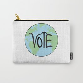 Vote Earth Hand Drawn Carry-All Pouch