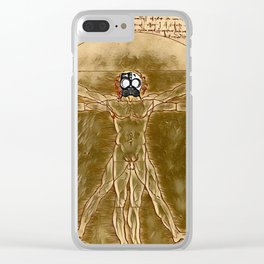 DaVinci's Vitruvian Man - Der Roj study Clear iPhone Case