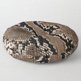 Python Skin Pattern Snake Skin Brown Animal Print Home Decor Floor Pillow