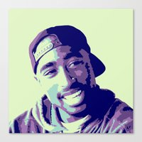 tupac Canvas Prints featuring Tupac by victorygarlic - Niki