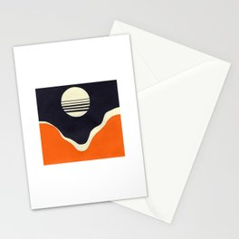 Moonrise Over Valley Stationery Cards