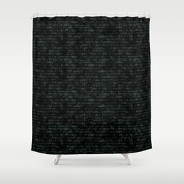 Light Green Dna Data Code Shower Curtain