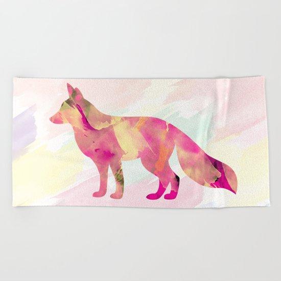 Abstract Fox Beach Towel