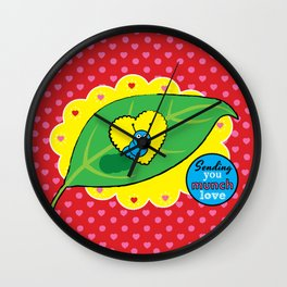 Lovebugs - Sending you munch love Wall Clock