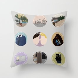 PHILKAS: A MINIMALIST LOVE STORY Throw Pillow