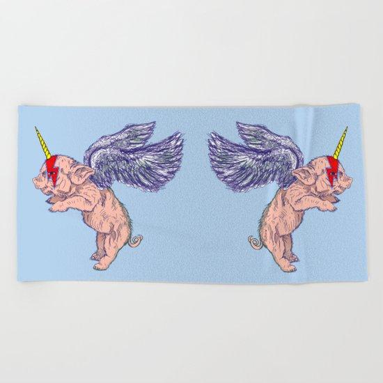 Super Unicorn Piglet Beach Towel